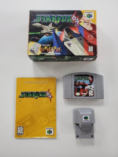 Star Fox 64 (Rumble Pak Bundle) (Missing Insert) (CIB)